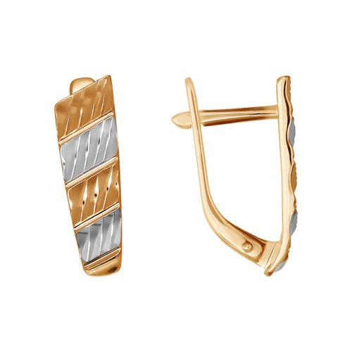 Золотые серьги с английским замком SOKOLOV серьги с английским замком из золота 65с610322
