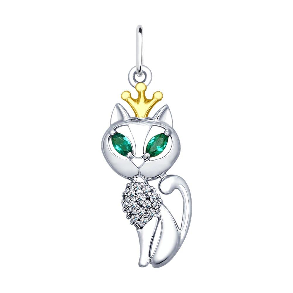 Подвеска SOKOLOV из серебра «Кошка»