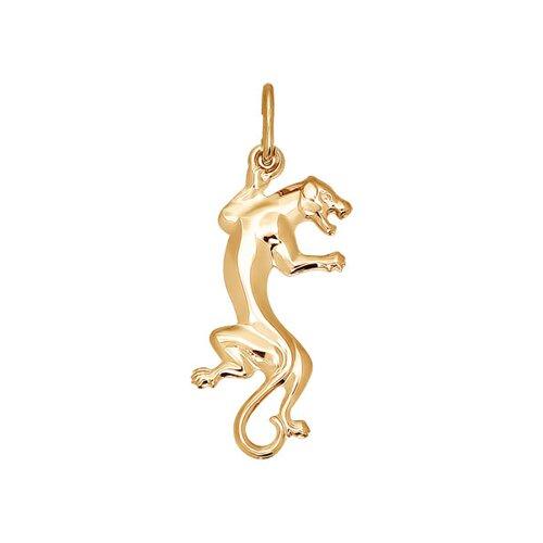 Золотая подвеска «Пантера» SOKOLOV