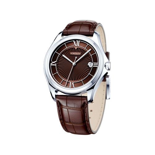Мужские серебряные часы (135.30.00.000.04.03.3) - фото