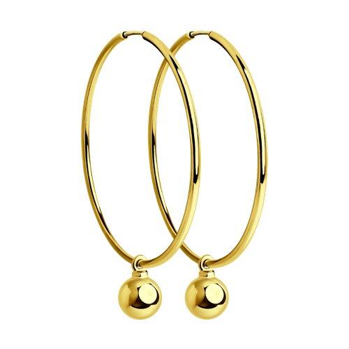 Серьги из желтого золота (028391-2) - фото