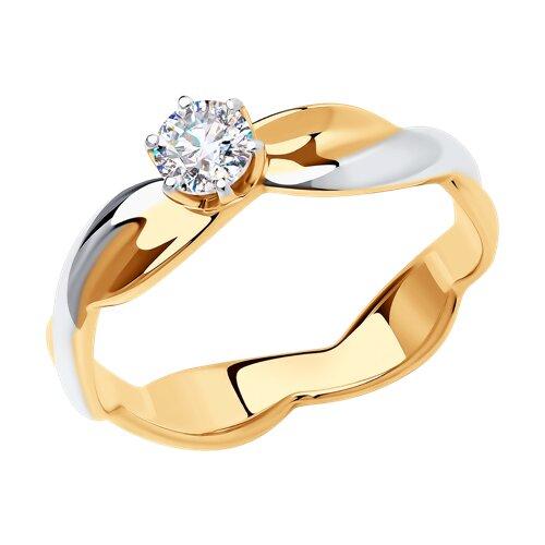 Кольцо из золота с фианитом 018630 sokolov фото
