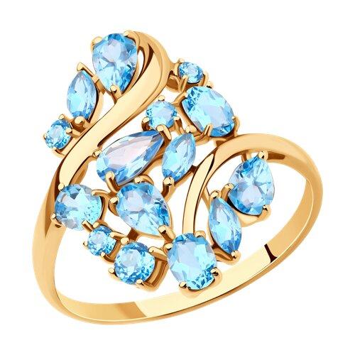 Кольцо из золота с топазами (714282) - фото