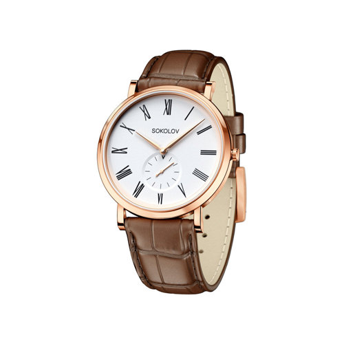 Мужские золотые часы (209.01.00.000.01.03.3) - фото