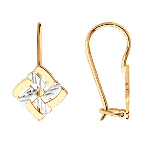 Серьги из золота с алмазной гранью (027244) - фото