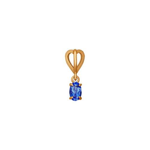 Подвеска из золота с синим фианитом (034569) - фото