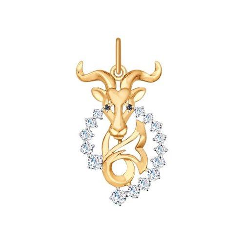 Золотая подвеска «Знак зодиака Козерог» SOKOLOV win 02 10зеркало серебр знак зодиака козерог