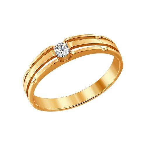 Кольцо из золота с бриллиантом (1010820) - фото