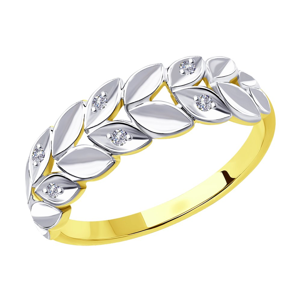 Кольцо Diamant из желтого золота с бриллиантами