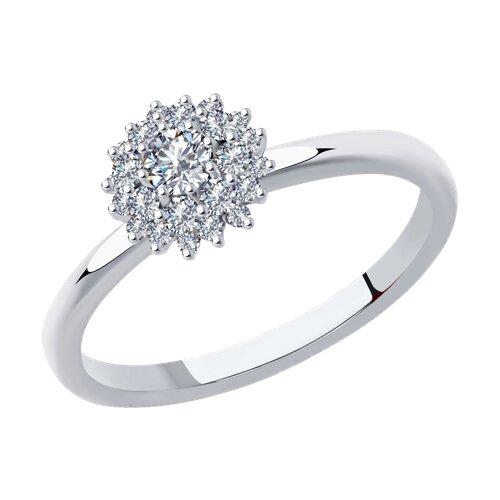 Кольцо из белого золота с бриллиантами (1011946) - фото