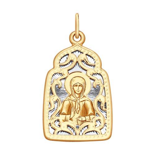 Нательная иконка SOKOLOV из золота «Святая блаженная Матрона Московская» серебряная нательная иконка святая блаженная матрона московская