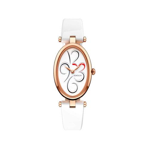 Женские золотые часы (235.01.00.000.03.05.2) - фото №2