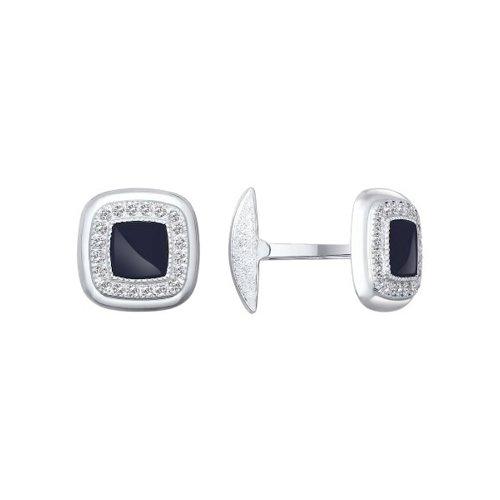 Серебряные квадратные запонки SOKOLOV