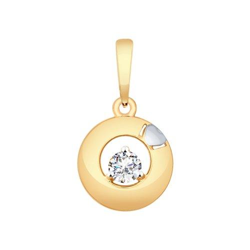 Подвеска из золота с фианитом (035464) - фото