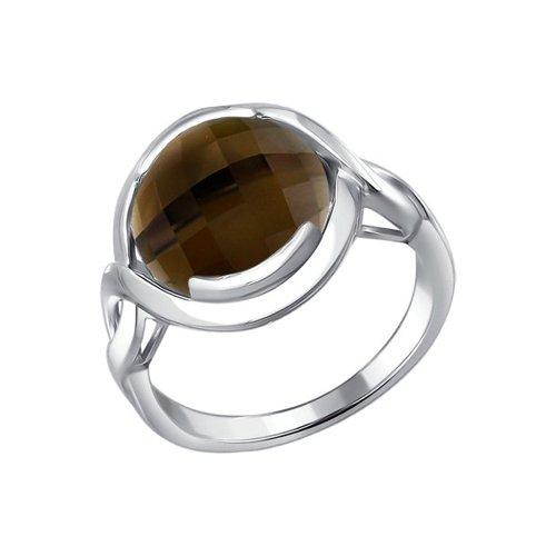 Кольцо c раухтопазом SOKOLOV ювелирное кольцо sokolov