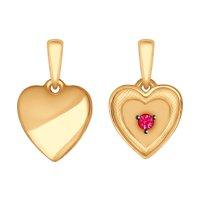 Кулон «Сердце» из золота