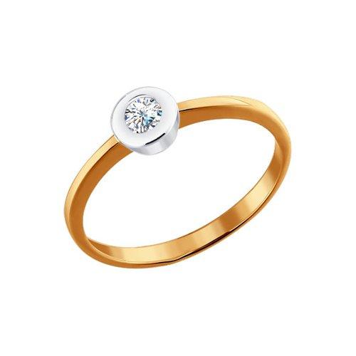 Помолвочное кольцо SOKOLOV из комбинированного золота с бриллиантом sokolov кольцо из комбинированного золота с бриллиантом 1011940 размер 17 5