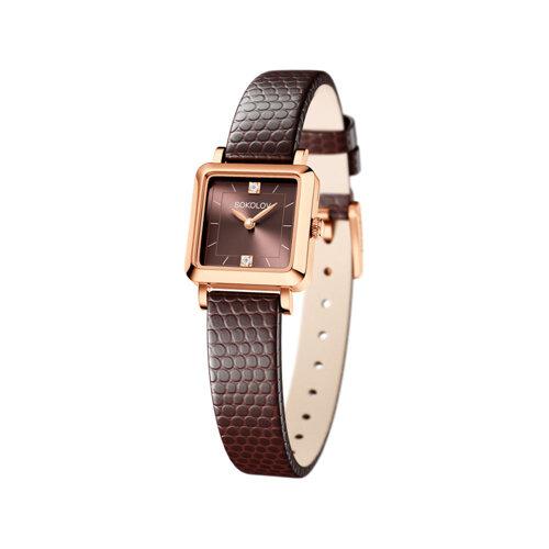Женские золотые часы (231.01.00.000.08.07.2) - фото
