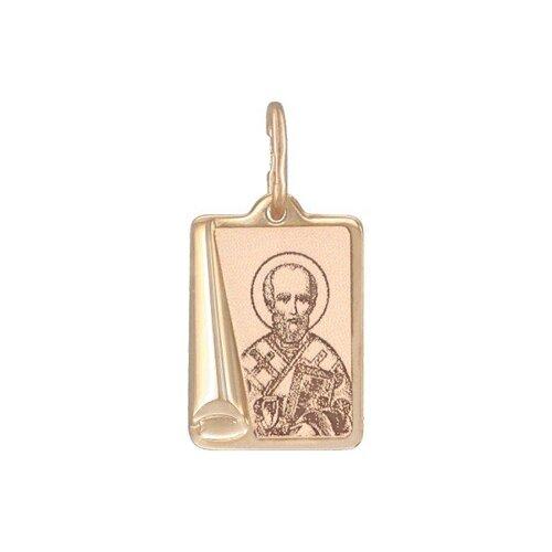 Иконка SOKOLOV из золота с лазерной обработкой фото