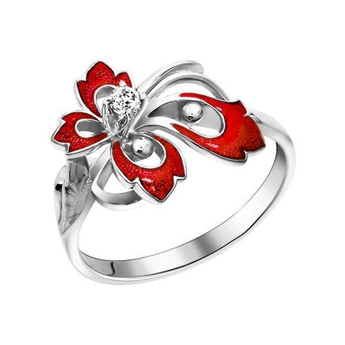 Кольцо SOKOLOV из серебра с эмалью с фианитом с сайнт саенс менуэт