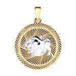 Подвеска «Знак зодиака Телец» с алмазной гранью