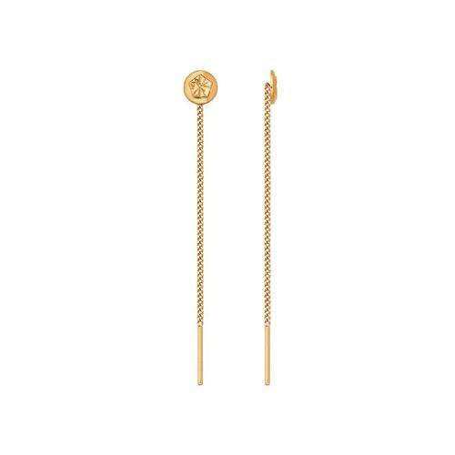Серьги-цепочки SOKOLOV из золота с алмазной гранью серьги цепочки sokolov из золота с жемчугом