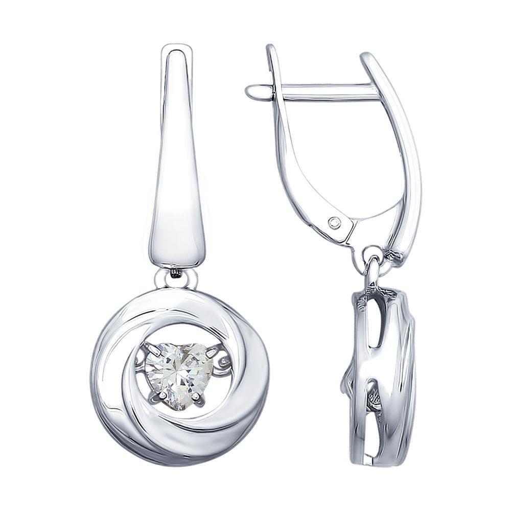Серьги SOKOLOV из серебра со Swarovski Zirconia фото