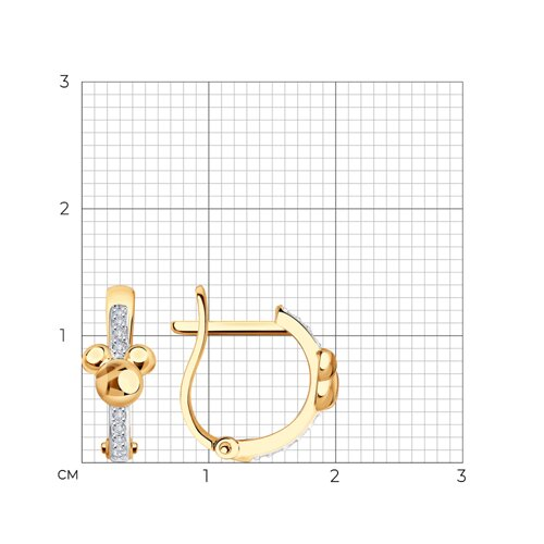 Серьги из золота с фианитами 029144 SOKOLOV фото 2