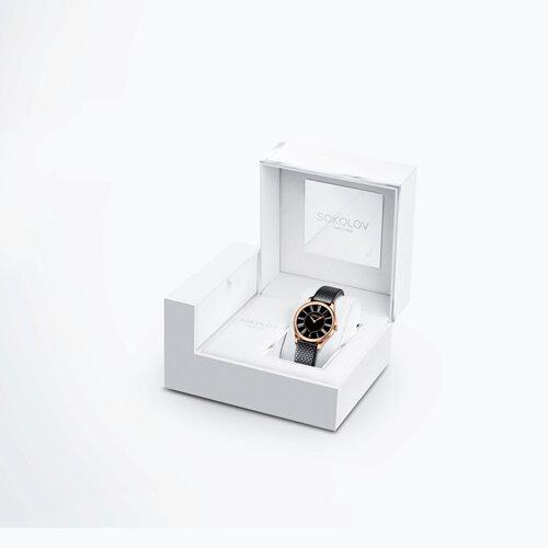 Женские золотые часы (238.01.00.000.03.01.2) - фото №4