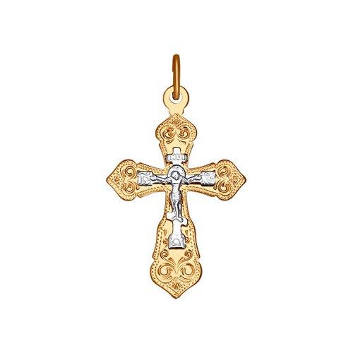Золотой православный крестик SOKOLOV