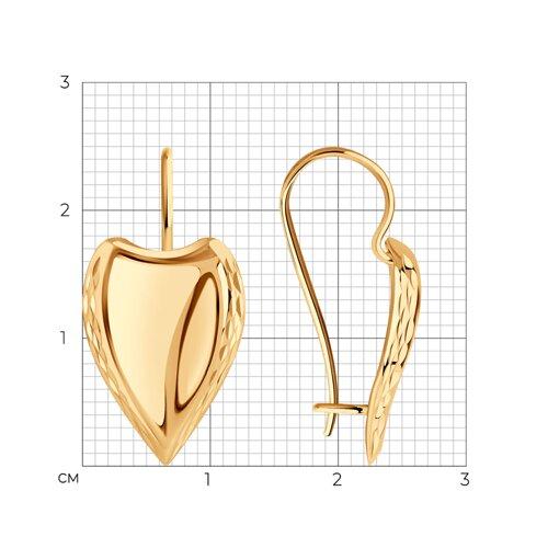 Серьги из золота с алмазной гранью (027163) - фото №2