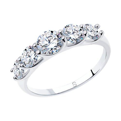 Кольцо из серебра со Swarovski Zirconia 89010041