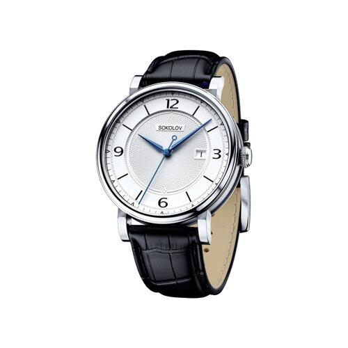 Мужские серебряные часы (101.30.00.000.03.01.3) - фото