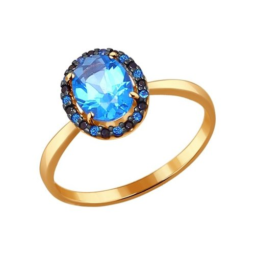 Золотое кольцо со Swarovski SOKOLOV золотое кольцо ювелирное изделие 01k684711ul