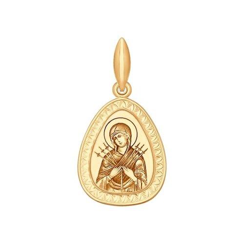 Нательная иконка Божьей Матери, Семистрельная 102073 sokolov фото
