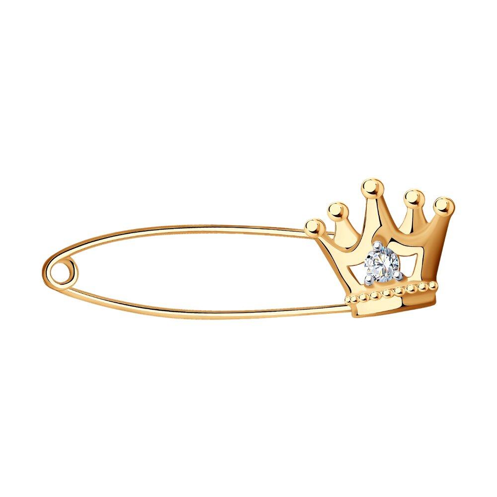 цена на Брошь «Корона» SOKOLOV