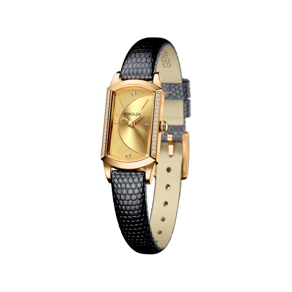 Женские золотые часы с бриллиантами SOKOLOV женские часы guess w1231l1