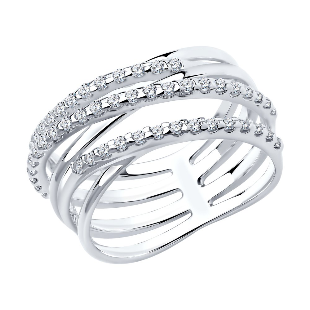 Кольцо SOKOLOV из серебра с фианитами