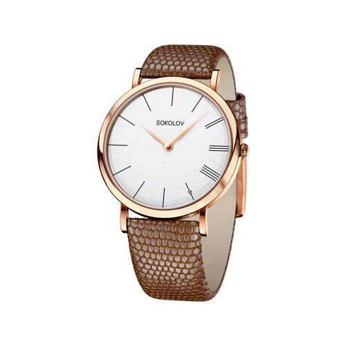 Женские золотые часы (204.01.00.000.01.03.2) - фото