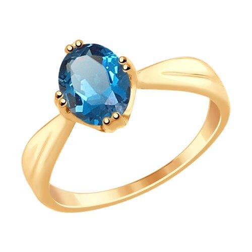 цена Кольцо SOKOLOV из золота с синим топазом онлайн в 2017 году