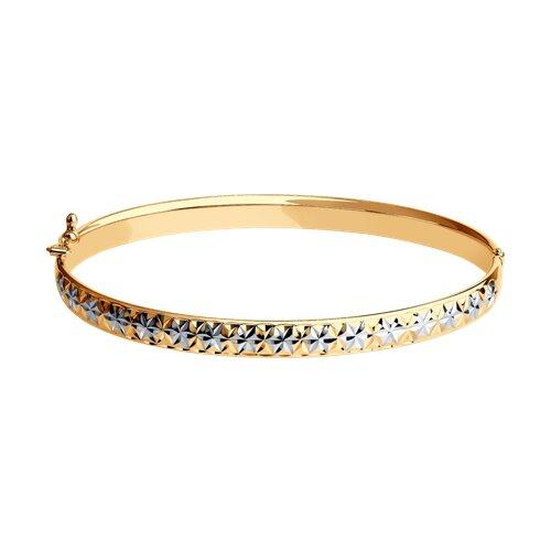 Браслет из золота с алмазной гранью шестиугольниками