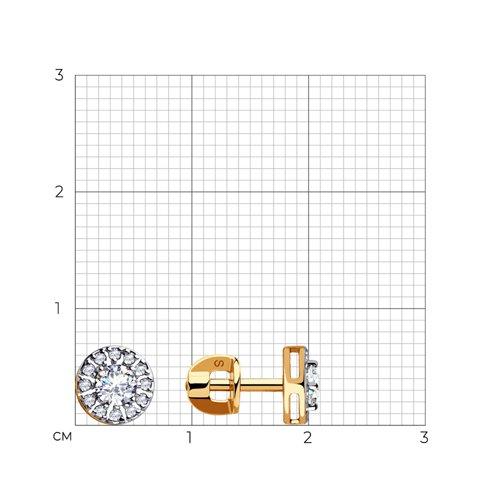 Серьги из золота с фианитами 028255 SOKOLOV фото 2
