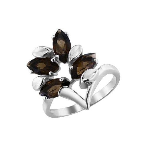 Кольцо SOKOLOV из серебра с раухтопазами кольцо из серебра с раухтопазами