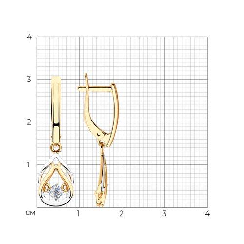 Серьги из золота с фианитами 028195 SOKOLOV фото 2