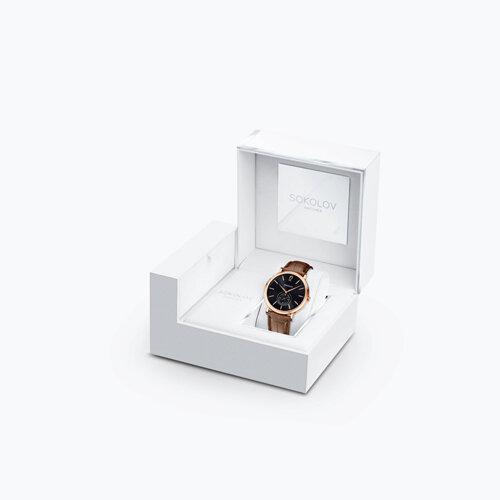 Мужские золотые часы (209.01.00.000.05.03.3) - фото №4