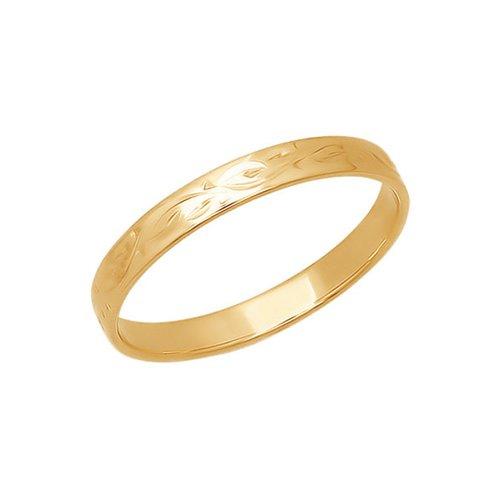 Золотое обручальное кольцо с гравировкой SOKOLOV золотое кольцо ювелирное изделие 01k684711ul