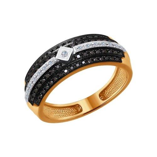 Кольцо из золота с бриллиантами (7010044) - фото