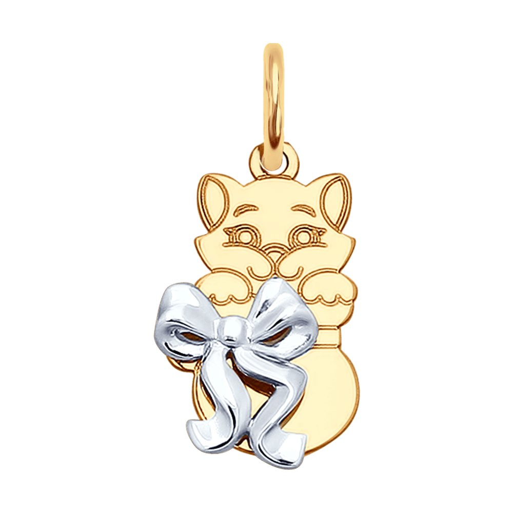 цена на Подвеска «Кошка» SOKOLOV из золота