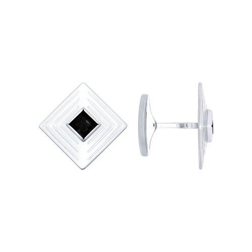 Запонки SOKOLOV из серебра с чёрными фианитами запонки из серебра