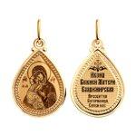 Иконка из золота «Икона Божьей Матери Владимирская»